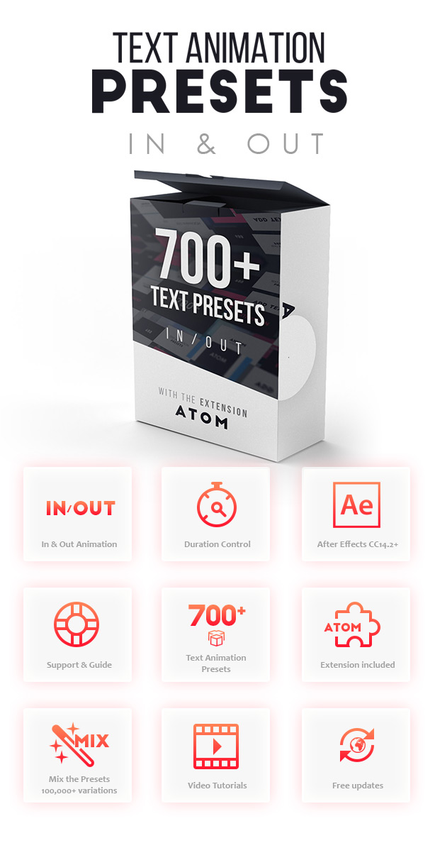 Videohive Text Presets Atom 2.1 Free Download