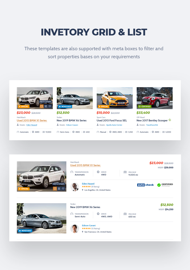 Corify - WordPress Car Listings & Dealership Theme