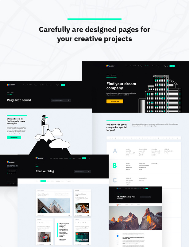 Carefully are designed pages for your creative projects