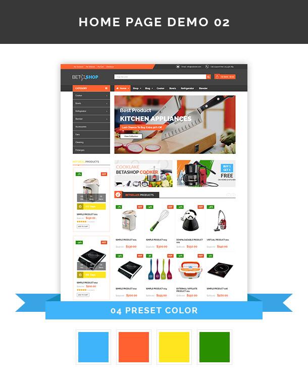 Vina BetaShop - Kitchen Appliances VirtueMart Template - 7