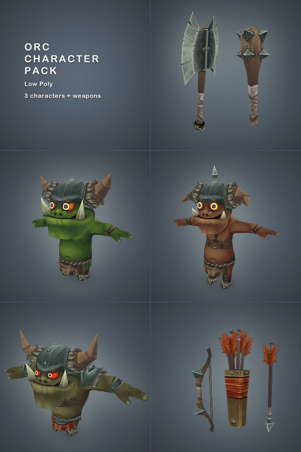 Low Poly Orc Character Pack