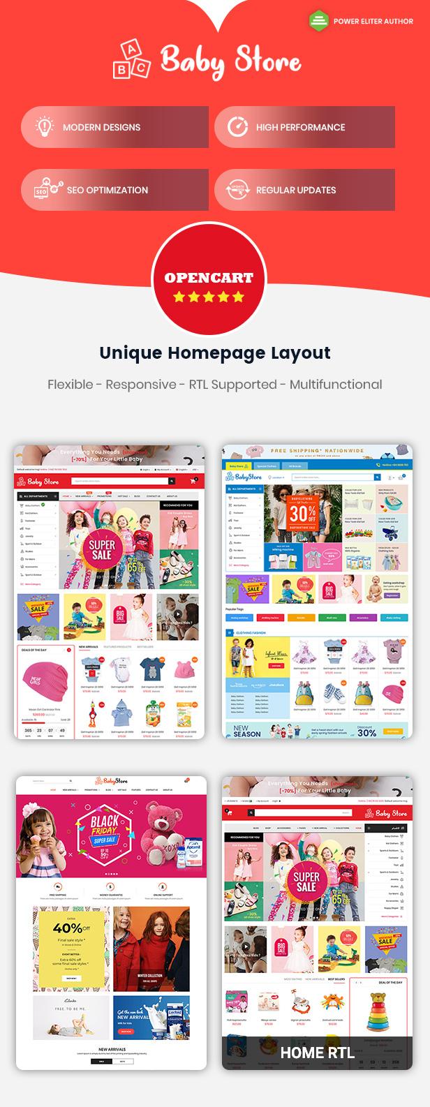 Babystore - Opencart Theme