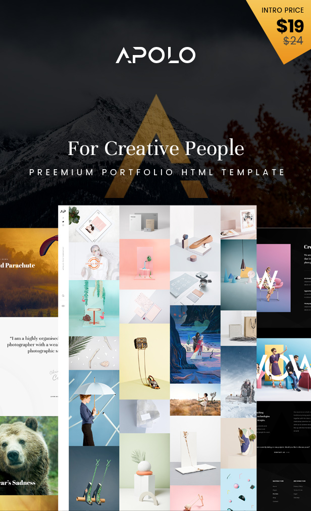 APOLO - Premium Portfolio HTML Template - 1