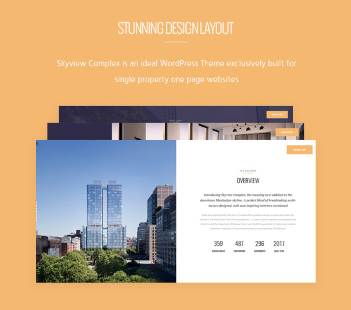 Skyview Complex Design Layout Single Property & Real Estate WordPress Themes