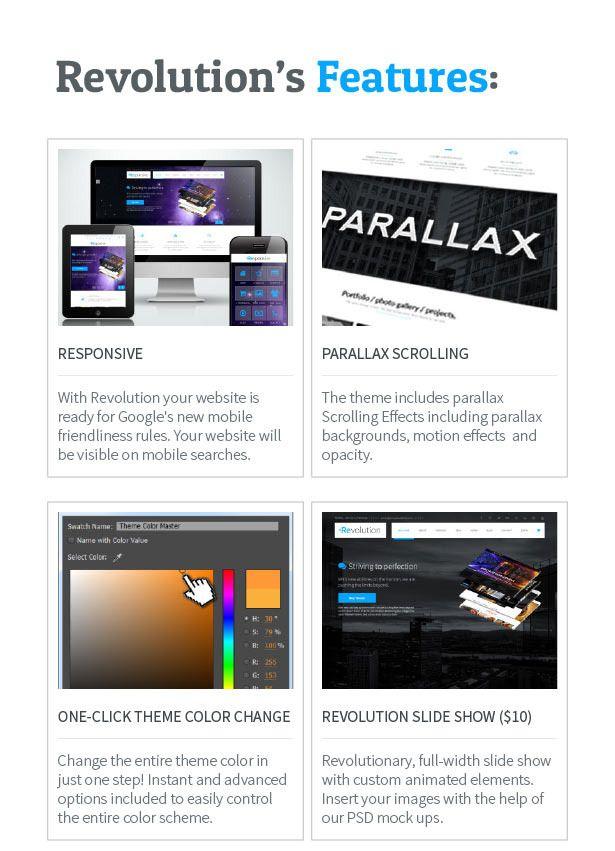 Revolution - Parallax Multipurpose Muse Template