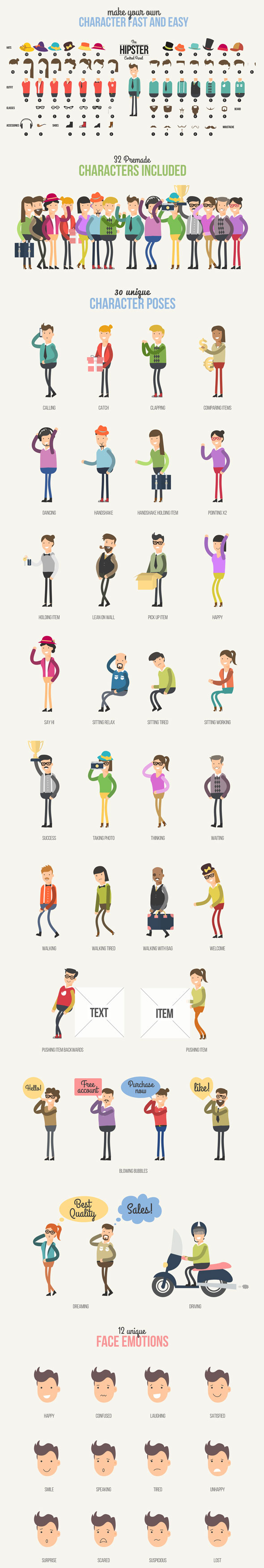 Hipster Explainer Toolkit & Flat Animated Icons Library - 7