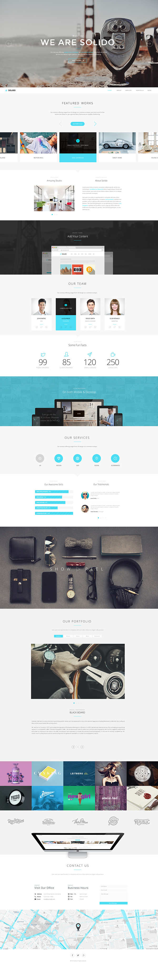 Solido - Responsive One Page Parallax Template - 2