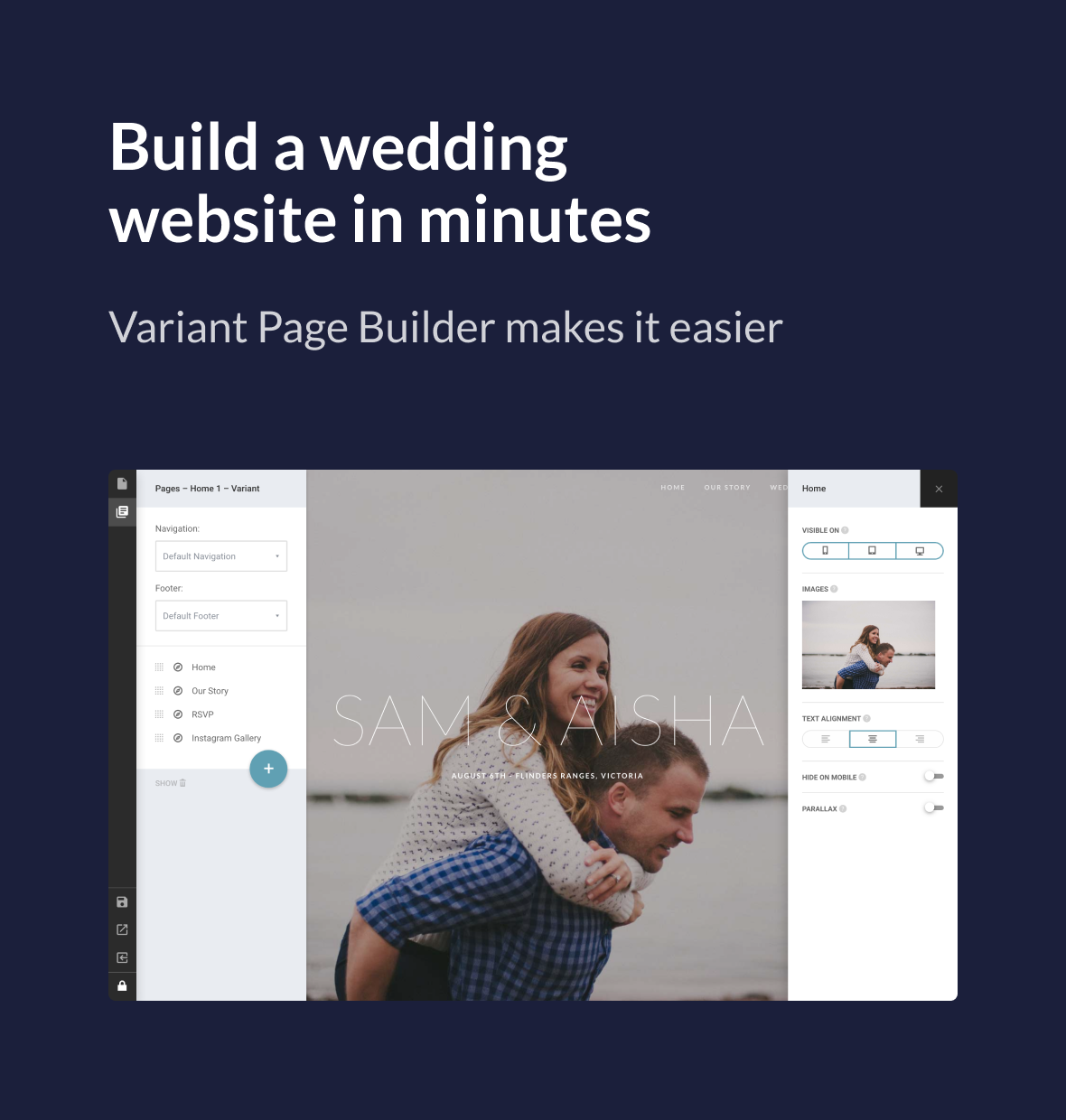 Union - Wedding and Event WordPress Theme for Variant & Visual Composer - 1