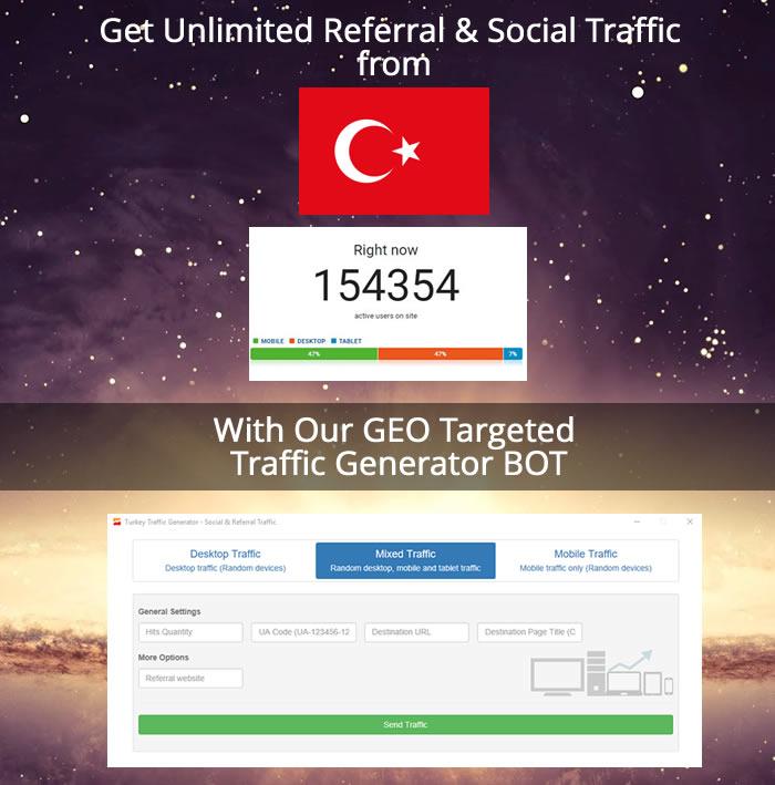Turkey Traffic Generator - Social & Referral Traffic - 1