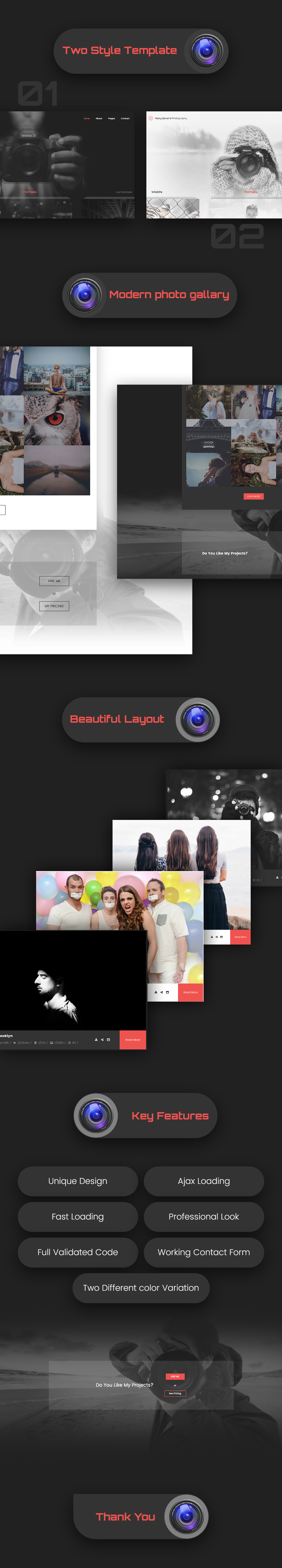 Shutter - Creative Personal Photography Template - 1