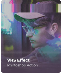 VHS Effect Photoshop Action