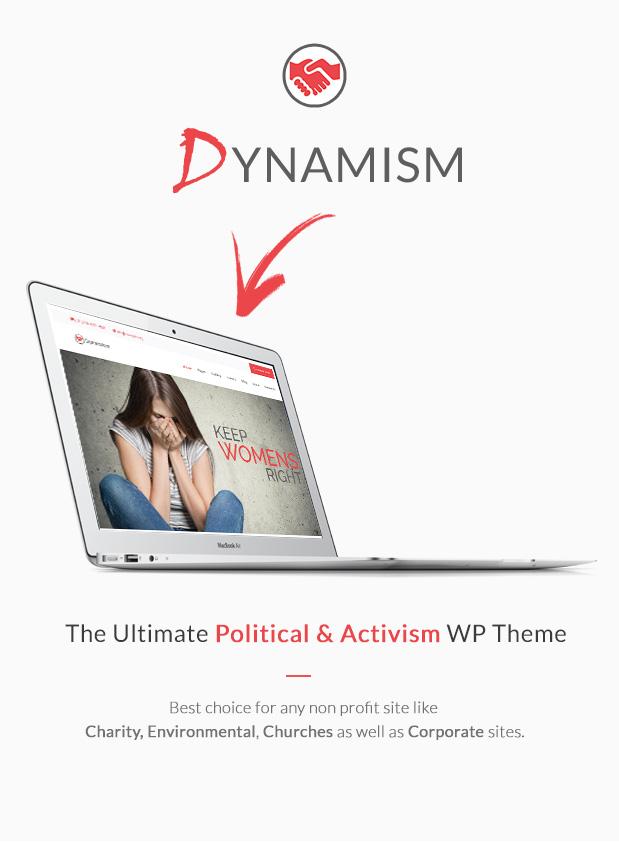 Dynamism - Political & Activism WP Theme
