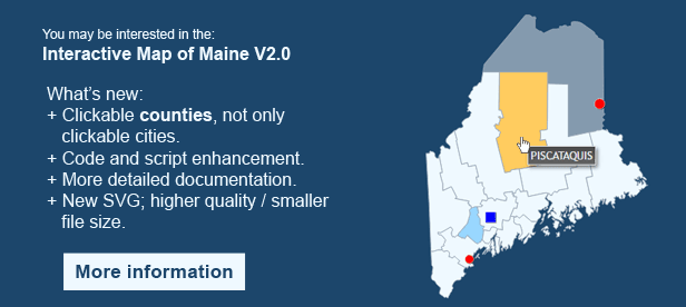 Interactive Map of Maine
