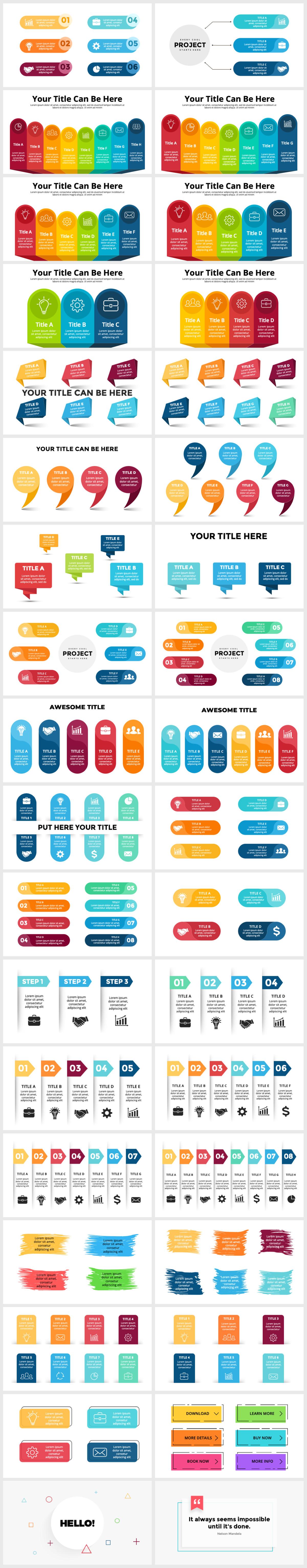 Huge Infographics Bundle! Lifetime Updates! PowerPoint, Photoshop, Illustrator. - 219
