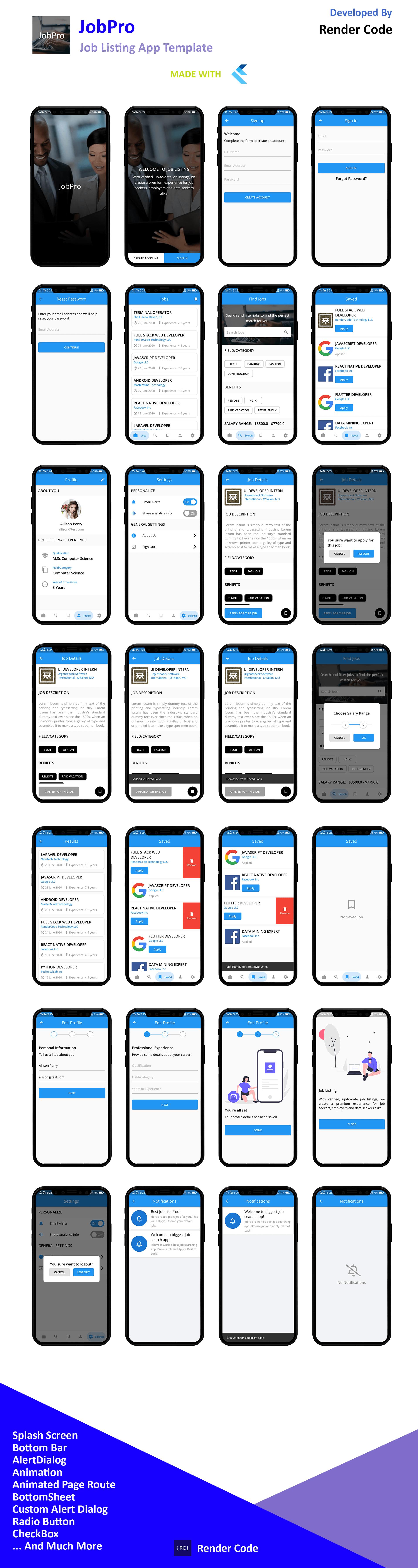 StunningKit - Biggest Flutter App Template Kit (15 App Template) - 18
