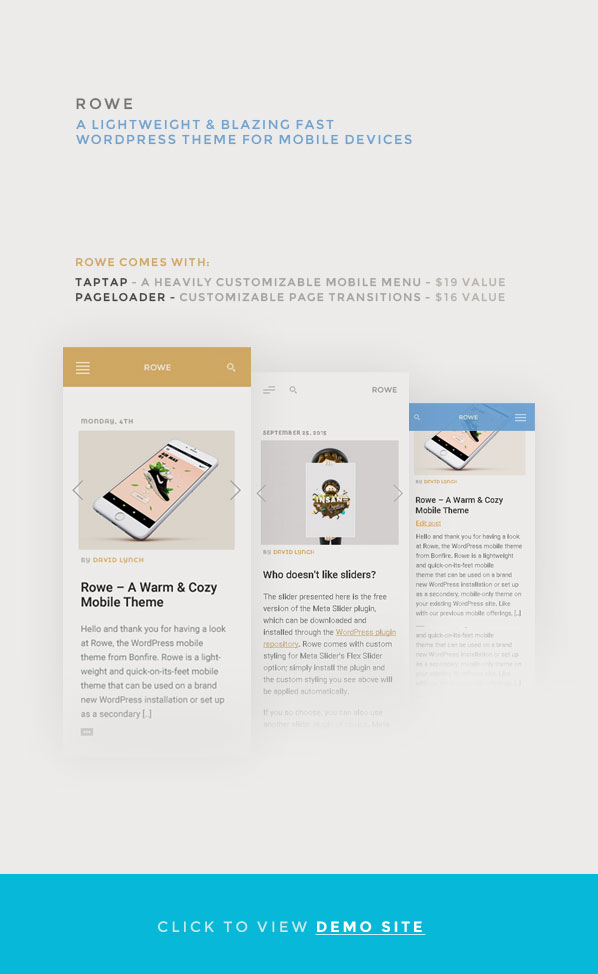 ROWE Mobile Theme for WordPress - 2