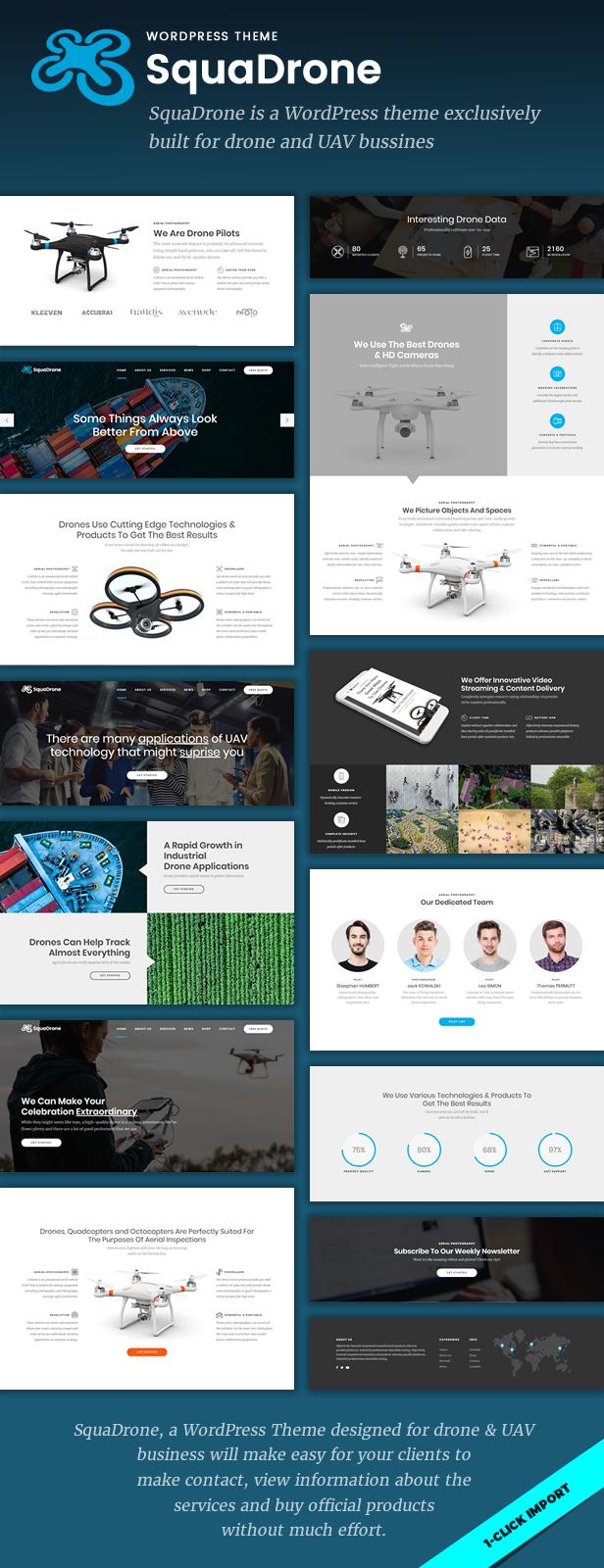 SquaDrone - Drone & UAV Business WordPress Theme - 1
