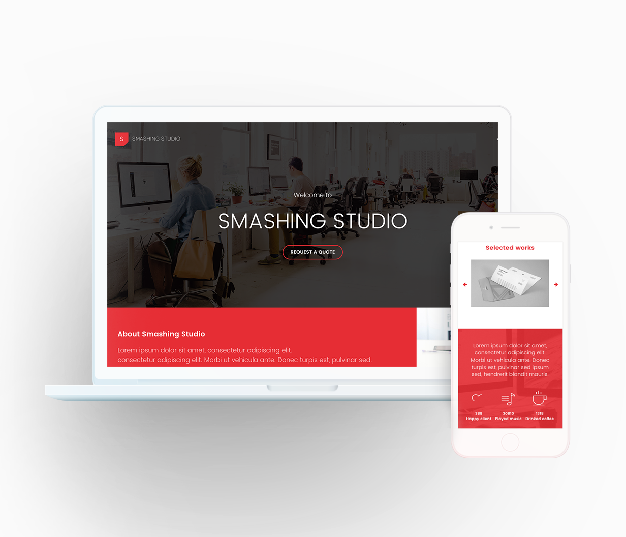 Smashing Studio Landing Page - 1