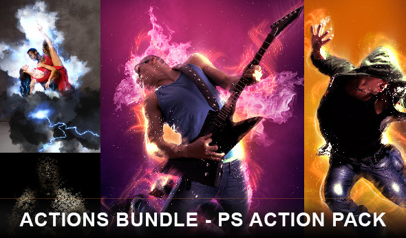 Actions bundle Photoshop action pack