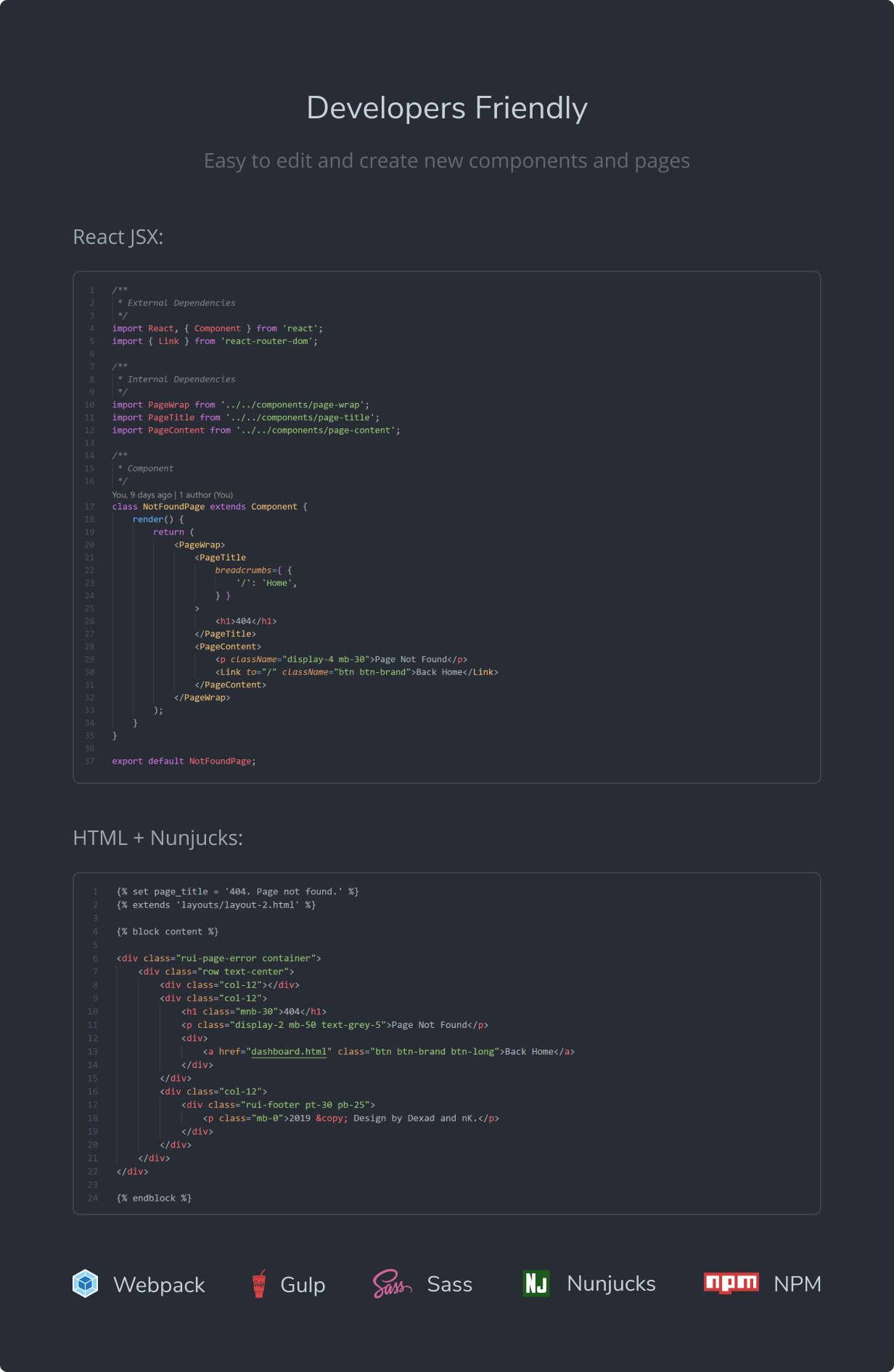 Developers Friendly