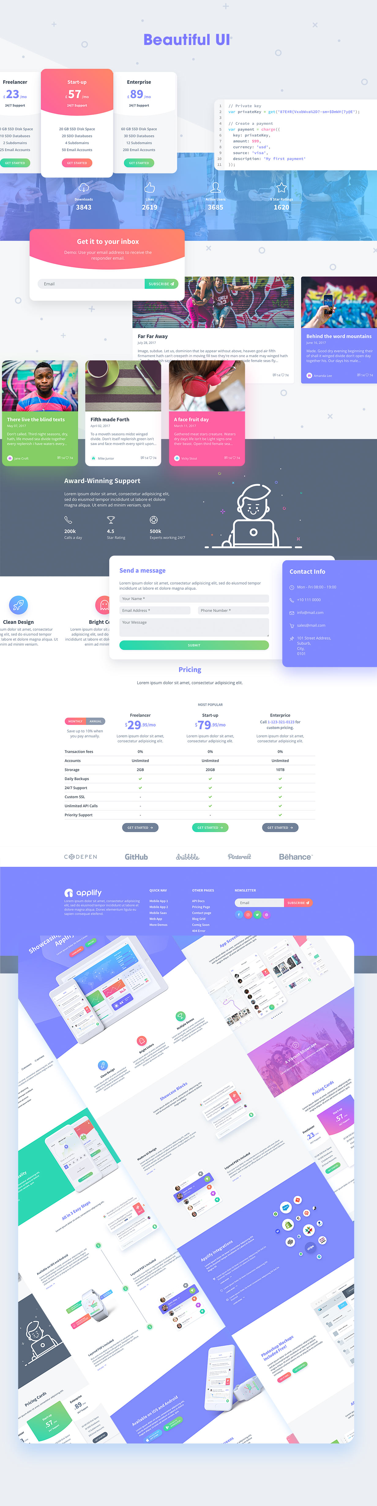 Applify - App Landing & Showcase HTML Template