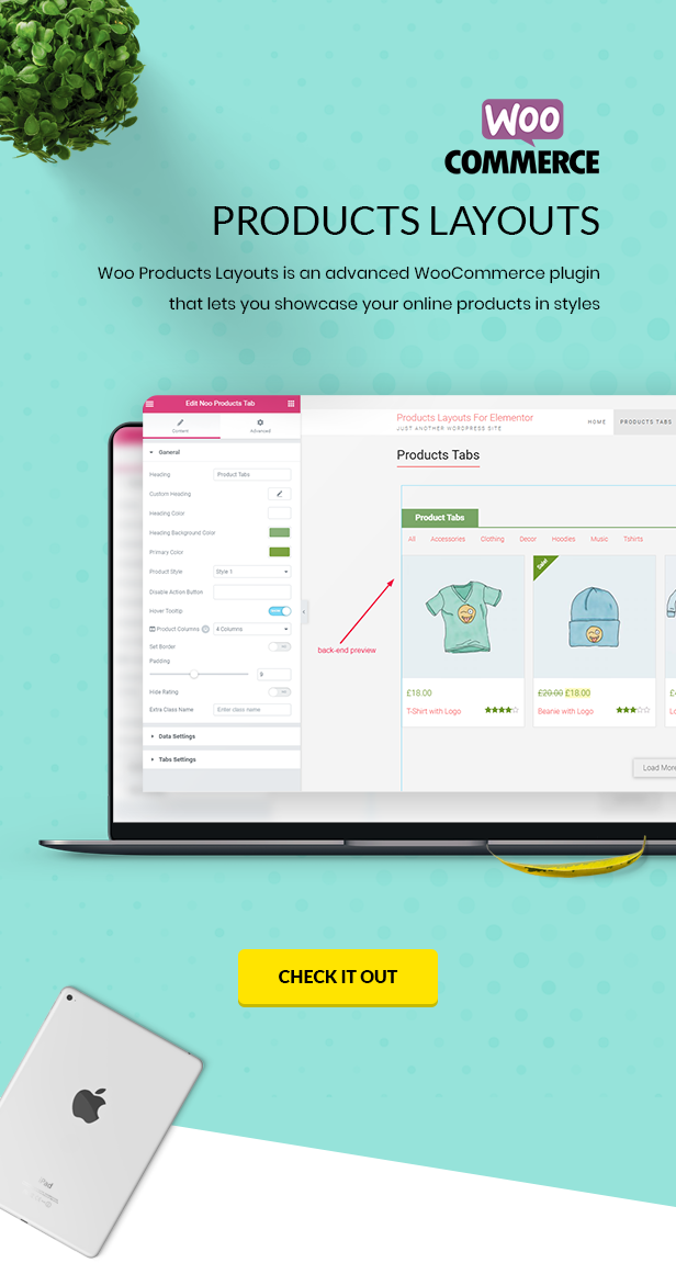 Noo Products Layouts - WooCommerce Addon for Elementor Page Builder - 1