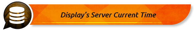 Display's Server Current Time