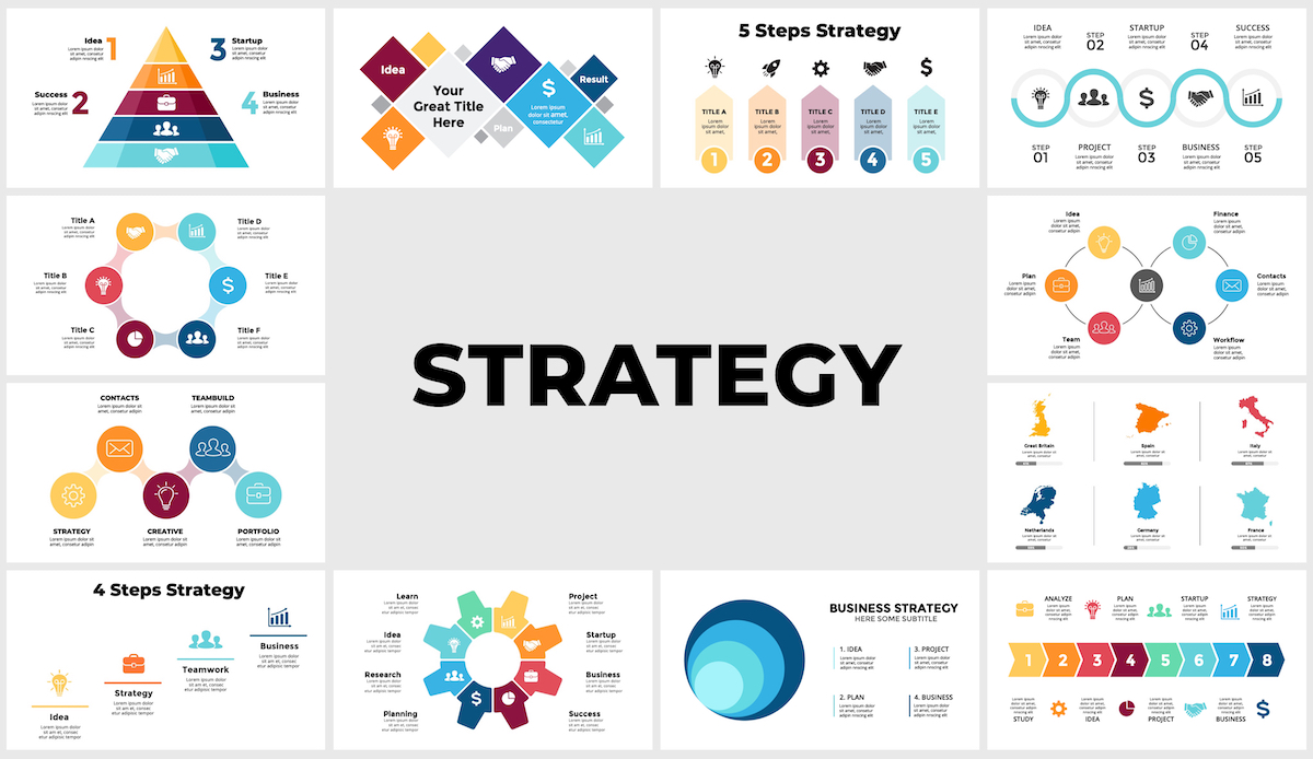 Huge Infographics Bundle! Lifetime Updates! PowerPoint, Photoshop, Illustrator. - 208