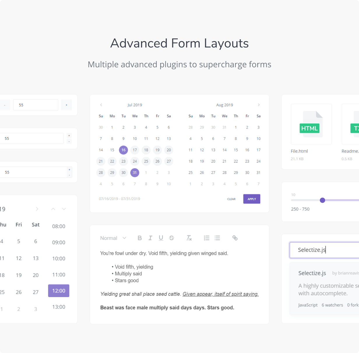 Advanced Form Layouts