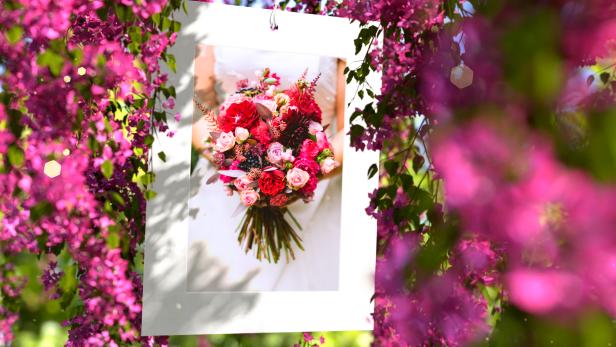 Pink Flowers Wedding Slideshow - 6