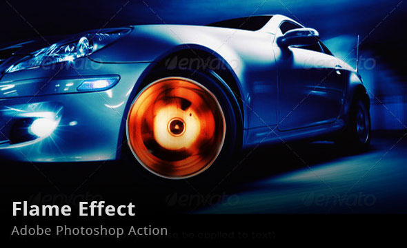 Flame Effect Photoshop Action