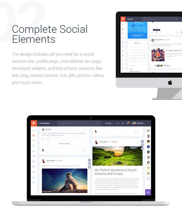 Complete Socials Elements