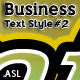 Business Text Styles #2) - GraphicRiver Item for Sale
