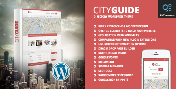 City Guide - Listing Directory WordPress Theme - Directory & Listings Corporate