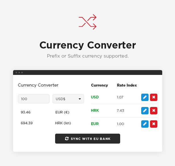 Currency widget