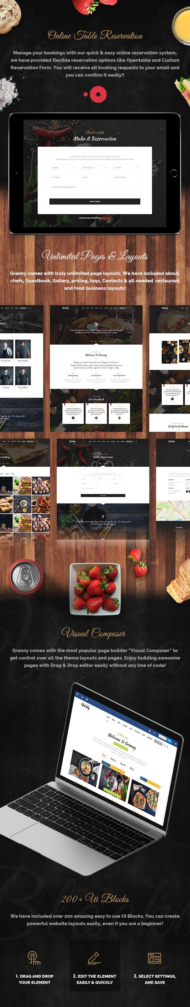 Restaurant Granny - Elegant Restaurant & Cafe WordPress Theme - 8