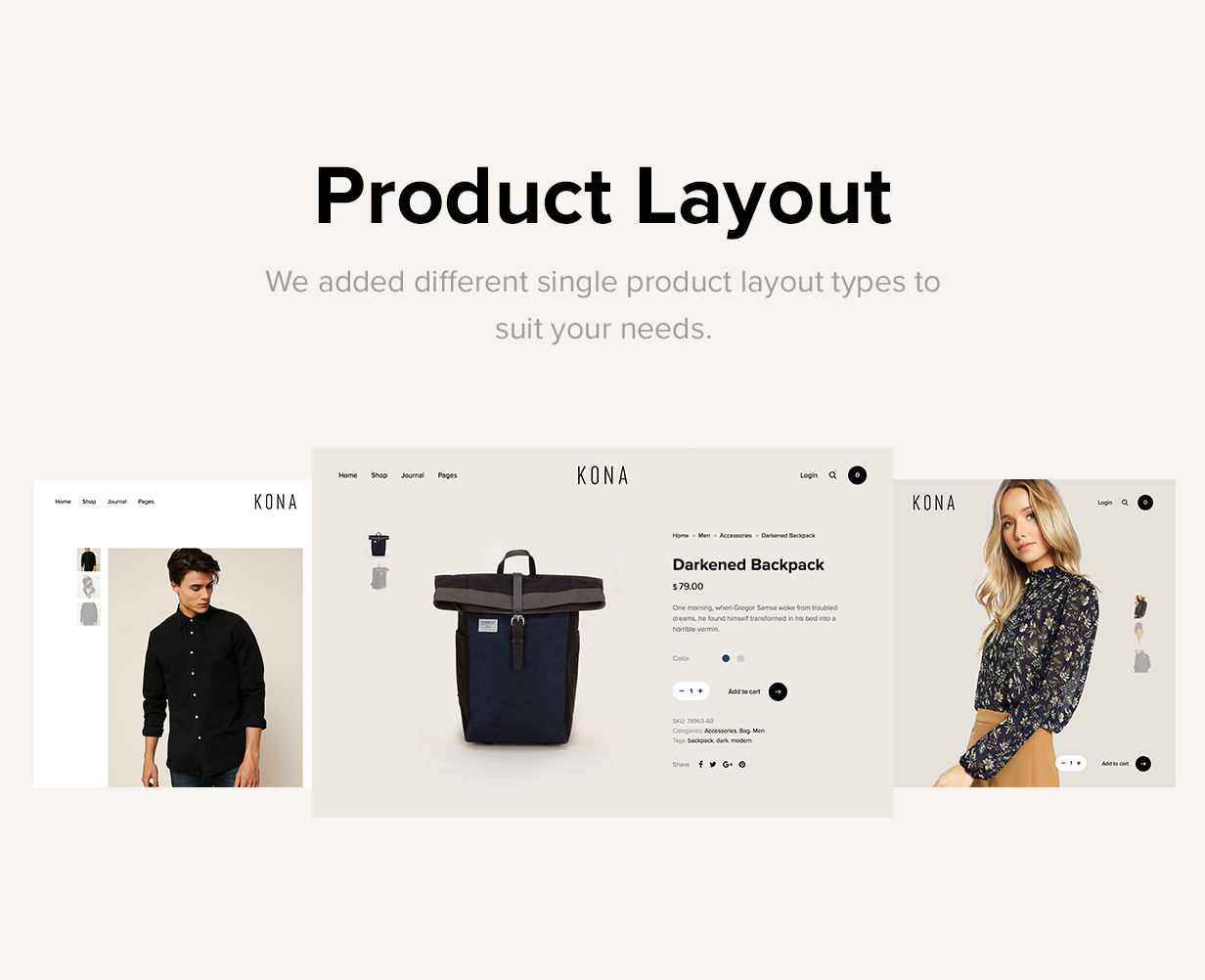 Kona - Modern & Clean eCommerce WordPress Theme - 10