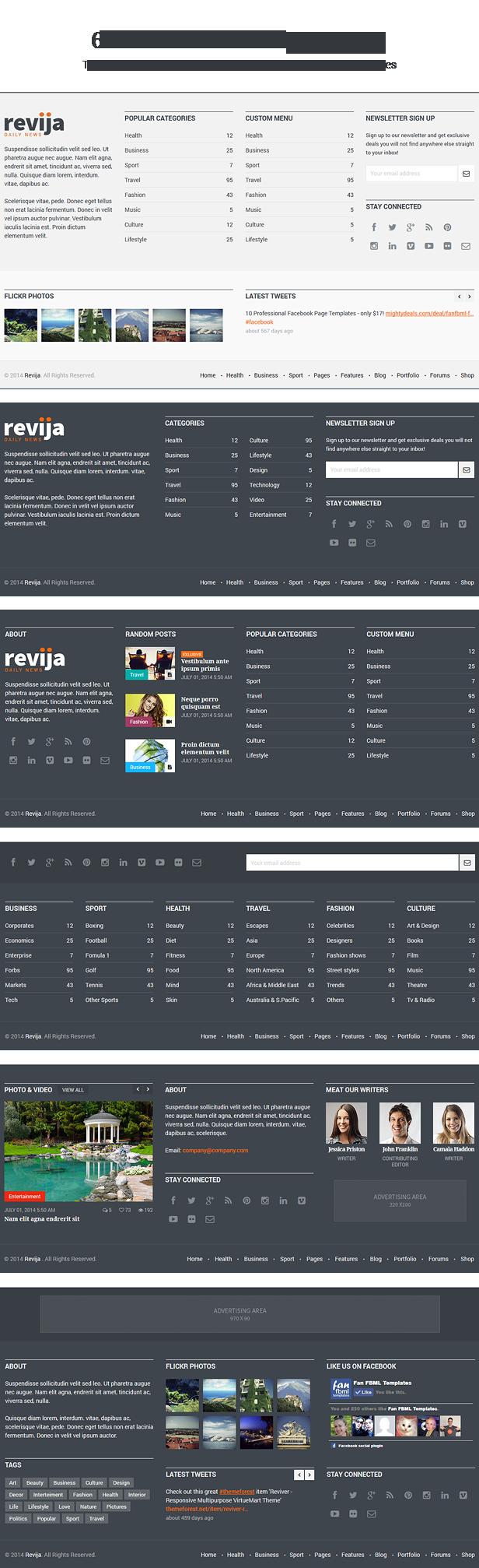 Revija - Premium Blog/Magazine HTML Template - 7