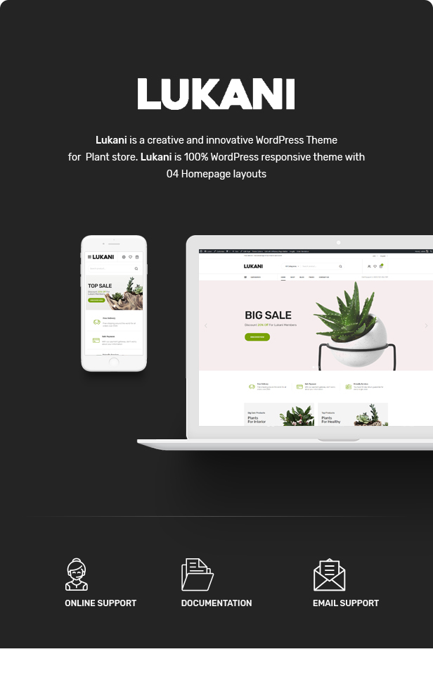 Lukani - Plant Store Theme for WooCommerce WordPress 22