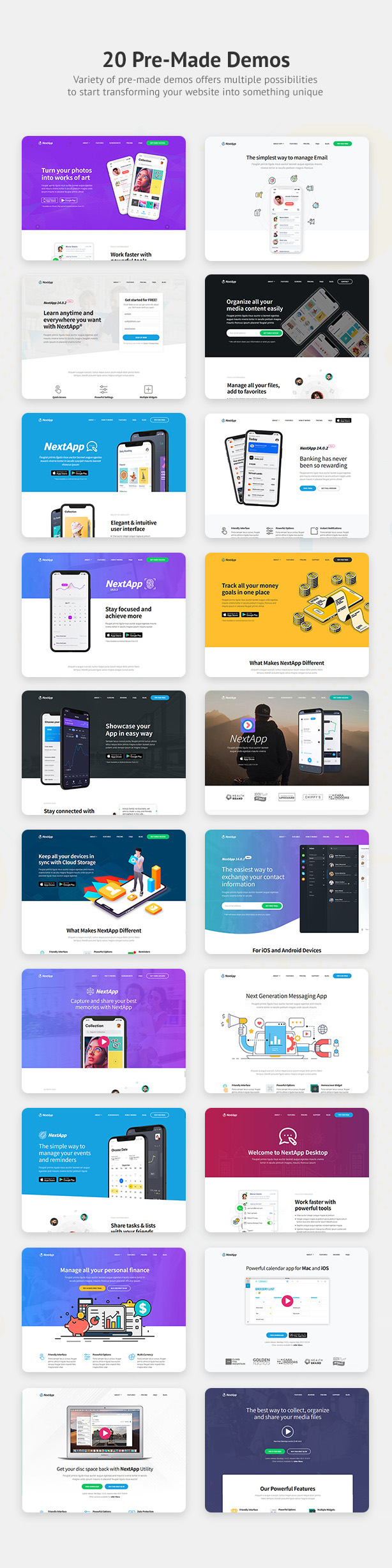NextApp - App Landing WordPress Theme - 3