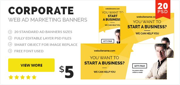 Multipurpose Web Ad Banner - 1