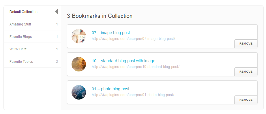 WordPress User Bookmarks for UserPro - 7