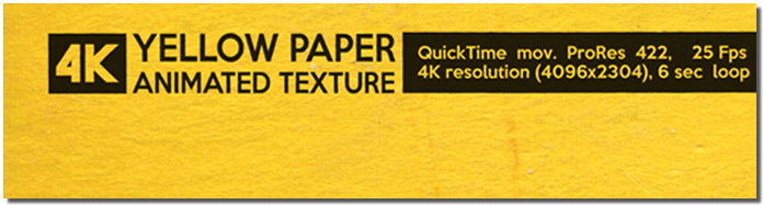 Yellow Paper Animated Texture