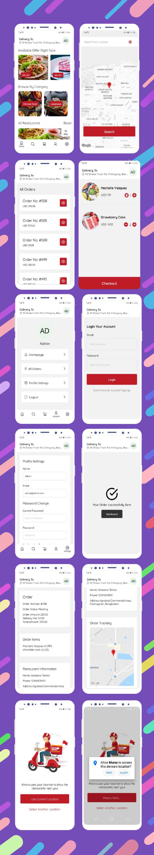 Khana Multi Restaurants And Food Delivery Customer App - 3
