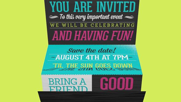 Invite | Kinetic Typography