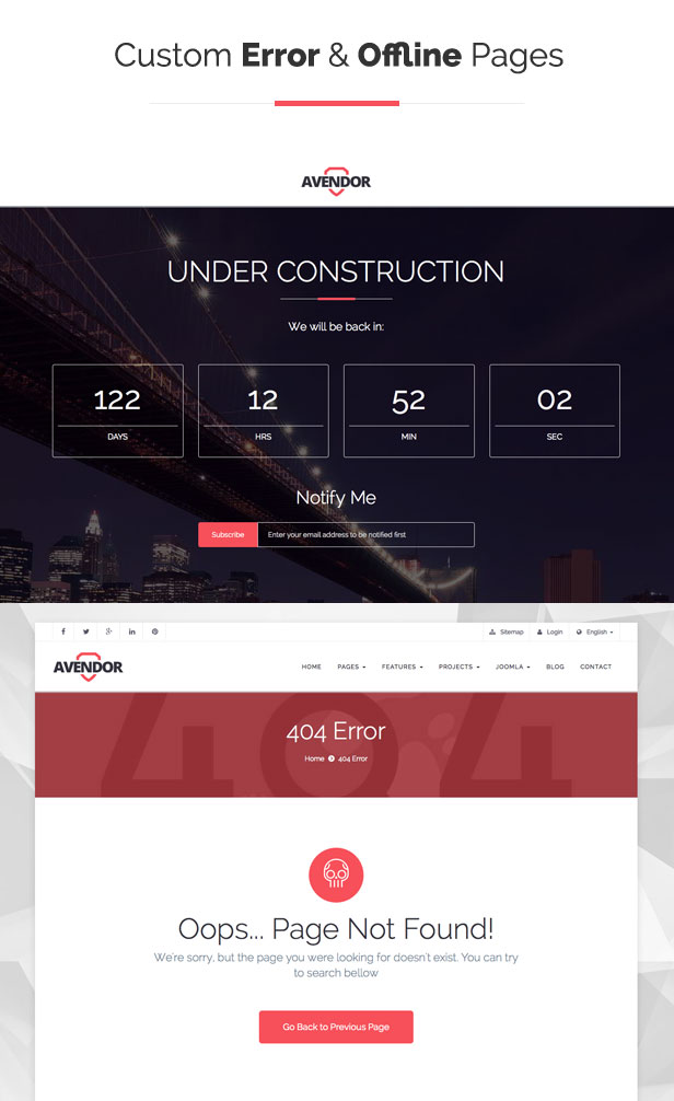 AVENDOR - Responsive Multi-purpose Joomla Template - 8