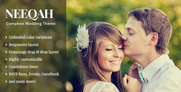 Qaween - Wedding WordPress Theme - 1