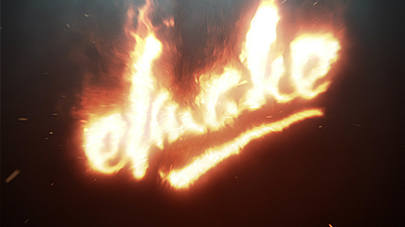 Fire Logo by elmake | ...K Logo In Fire