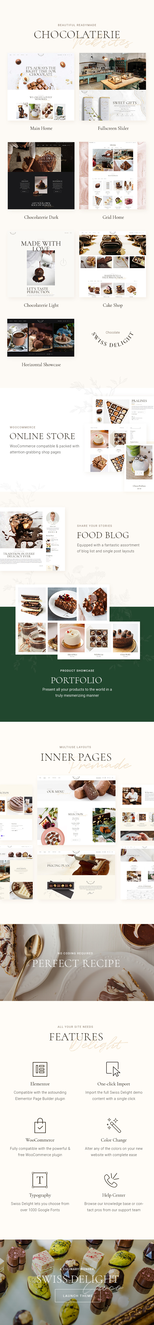 Swiss Delight - Chocolate & Cake Shop Theme - 2