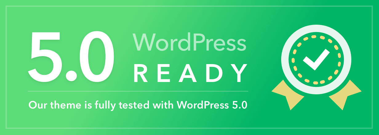 Wordpress 5 compatible theme